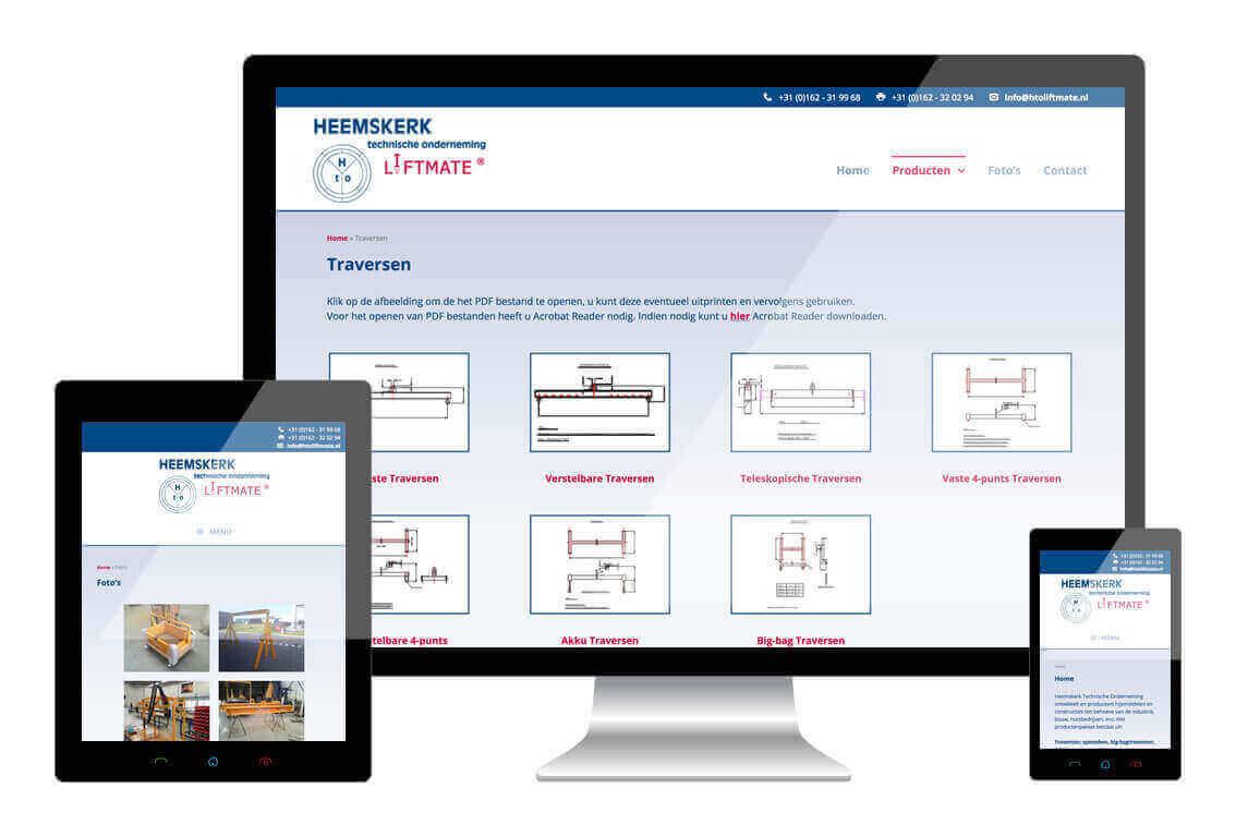 HTO Liftmate heeft een responsive website laten maken