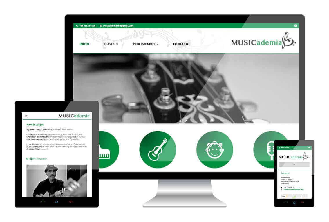 MusicAdemia heeft een responsive website laten maken