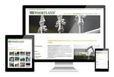 Poortland heeft een responsive website laten maken